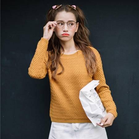 A866#2016秋季新款韩版纯色保暖毛衣外套百搭针织衫女装上衣NXNZ