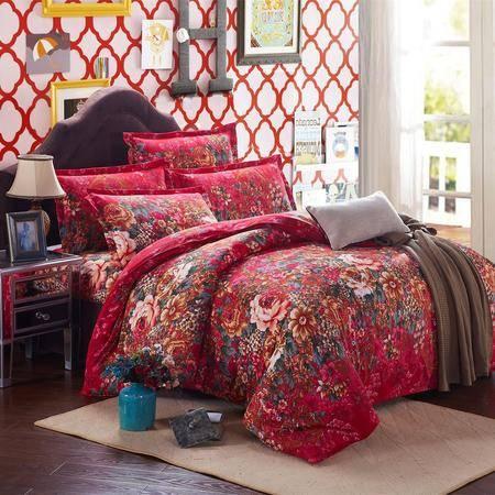 纯棉四件套全棉磨毛四件套三件套床单双人床上用品家纺BCJF