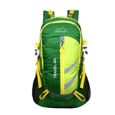 撞色时尚登山包尼龙防水运动包夜行安全反光图示1351JFBB