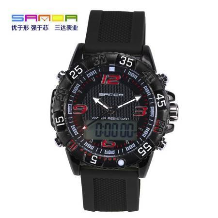 表多功能三针双显冷光电子表防水户外商务休闲运动男手表SD-001 SDSB