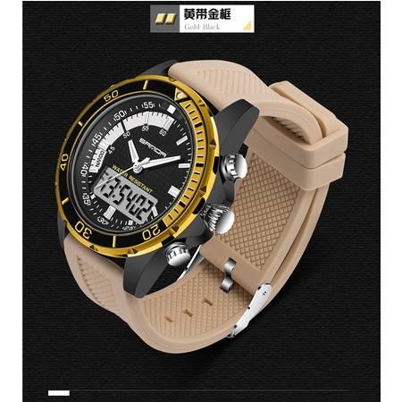 多功能三针双显冷光电子防水户外商务休闲运动手表表【003】SDSB