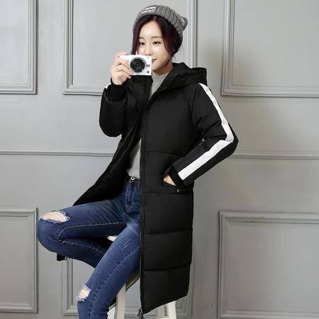 1517冬季新款韩版羽绒棉服修身中长款面包服棉衣加厚NXNZ3