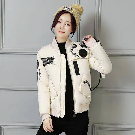 1623冬季女装新款韩版夹克修身百搭棉外套羽绒棉服外套NXNZ3