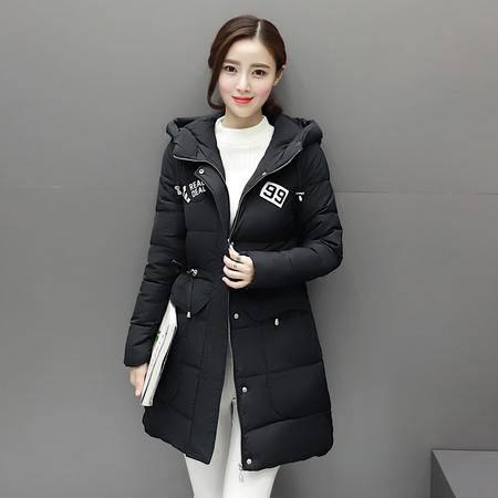 6636冬季韩版学生新款羽绒服中长款修身棉衣女士加厚NXNZ3