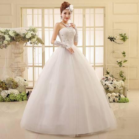 【预售】抹胸修身 结婚大码 蕾丝绑带  新娘婚纱550XSFZ