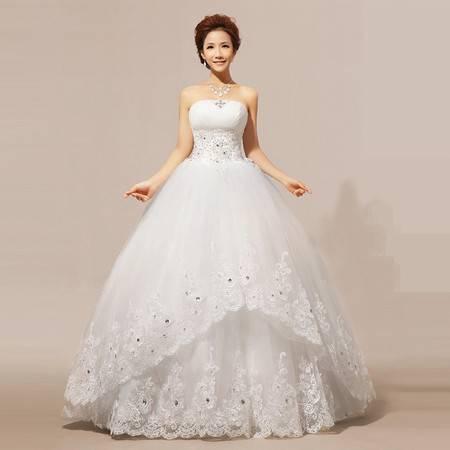 【预售】婚纱 抹胸 婚纱礼服 婚纱齐地HS237XSFZ