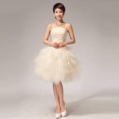 【预售】抹胸珍珠 小礼服 短裙 姐妹 伴娘裙LF114XSFZ