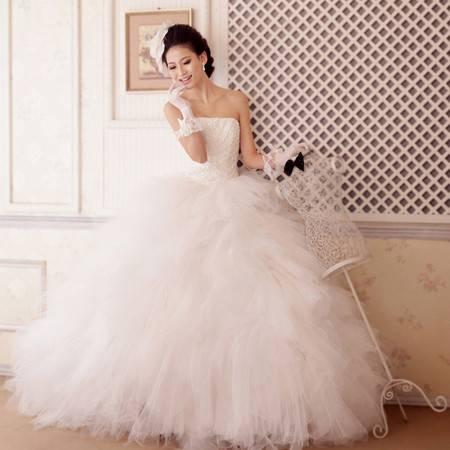 【预售】主显瘦婚纱 抹胸超大蓬蓬裙摆 时尚 婚纱XSFZ