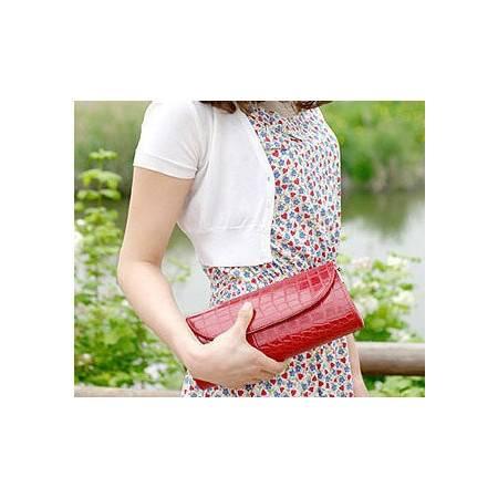 【预售】韩版女包包鳄鱼纹潮冬季小包手拿包手包单肩斜跨女包HCPJ