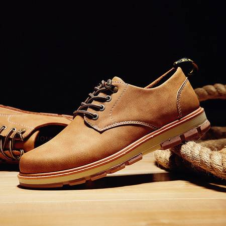 【预售】秋季大头皮鞋英伦男鞋子工装鞋男士休闲鞋复古厚底男潮鞋【G10】JQSL