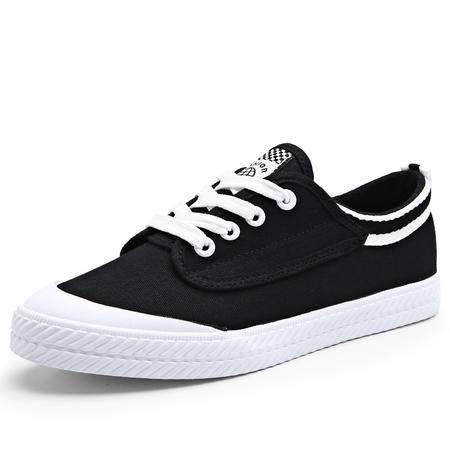 【预售】明星同款春季学生运动鞋时尚百搭小白鞋系带情侣帆布鞋经典款【F317】JQSL