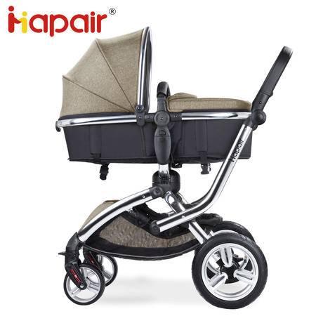 hapair婴儿推车可坐可躺欧式高景观推车四轮避震婴儿推车HBTC