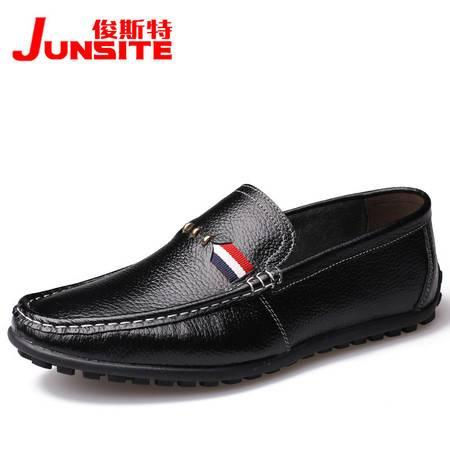 新款男士舒适驾车鞋豆豆鞋真皮套脚休闲鞋男鞋8027 JST3