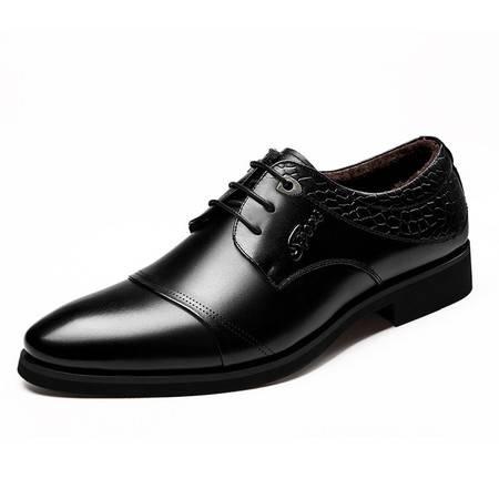 冬款男士商务正装加绒皮鞋男棉鞋系带单鞋男鞋【9919-1】JST3