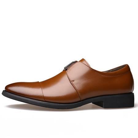 新款男士商务正装尖头皮鞋男鞋绅士套脚鞋单鞋JST3