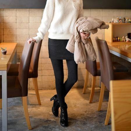3325秋季女装新款韩版假两件外穿修身显瘦包臀打底裤NX31