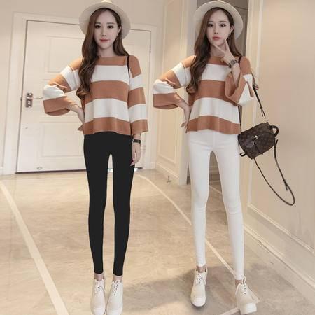 1102好质量不掉色韩版修身显瘦高腰纯色外穿打底小脚裤NX31