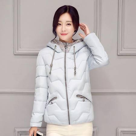 808冬季新款韩版棉衣女连帽修身羽绒棉服小棉袄NX31