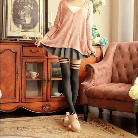 9232  冬季新款女装韩版弹力显瘦加绒加厚假透肉打底裤NX31