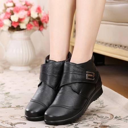 真皮妈妈棉鞋中老年女棉鞋奶奶棉鞋真皮棉鞋HD  SMX
