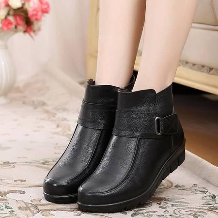 真皮妈妈棉鞋中老年女棉鞋奶奶棉鞋真皮棉鞋SMX