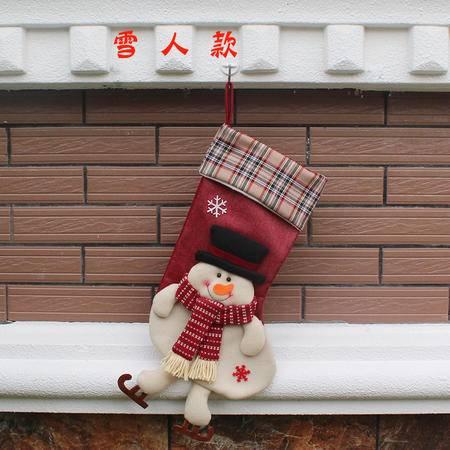 圣诞树挂件 圣诞老人袜 圣诞装饰出口新款圣诞 圣诞礼品挂饰