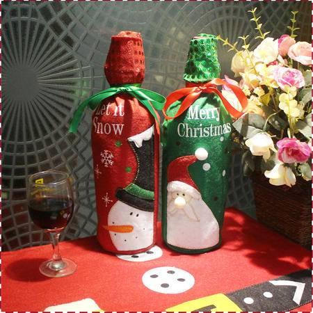 圣诞装饰品酒瓶套圣诞节装饰用品红酒礼物