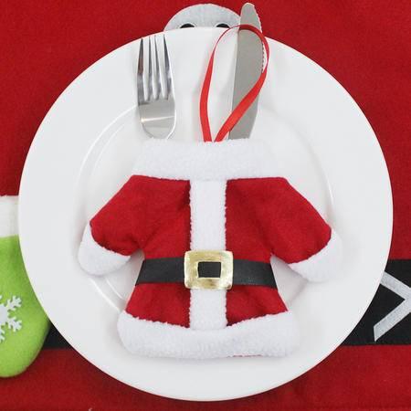 圣诞用品 圣诞桌面装饰 圣诞刀叉套 圣诞餐具套 圣诞小衣服