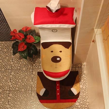 圣诞装饰品圣诞用品圣诞麋鹿马桶套圣诞马桶套酒店装饰圣诞工艺品