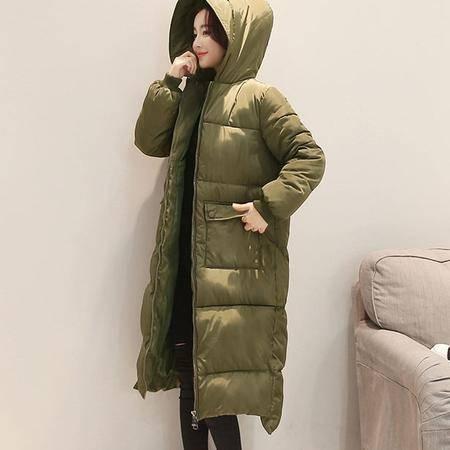 811冬季新款中长款棉服过膝加长修身女式外套NX32