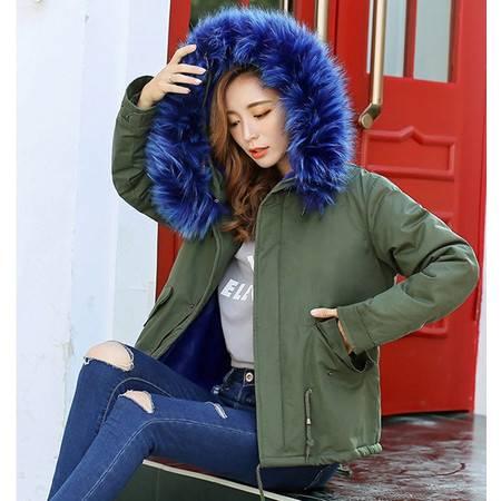 8899秋季新款女装韩版皮草军工棉服大衣外套女装服NX32