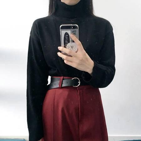 072032秋冬新款针织衫女装套头高领毛衣打底衫长袖加厚NX32