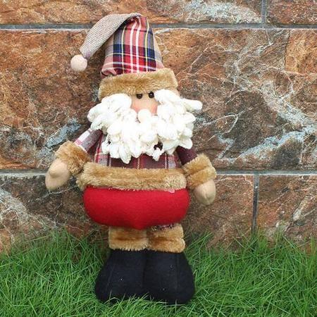 伸缩杆圣诞老人 平安夜孩子圣诞节礼物 办公室摆件圣诞装饰礼物