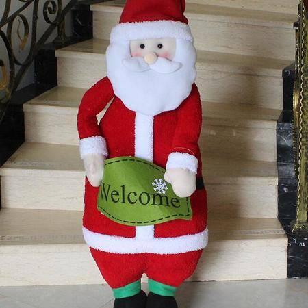 1米大号圣诞伸缩老人雪人公仔 酒吧布置节日装饰品摆件 圣诞老人