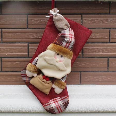 高档羊毛圣诞袜圣诞装饰品配件 圣诞工艺挂饰出口圣诞用品