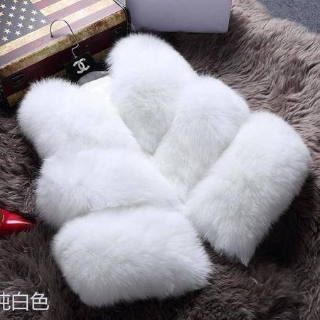 8812#女装韩版仿狐狸毛 皮草马甲背心 短款外套NX35