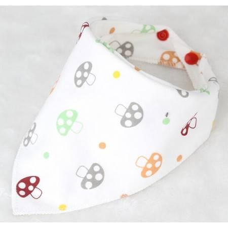 新生儿全棉三角巾 婴儿童卡通口水巾宝宝围嘴围兜头巾(十条装)YXL