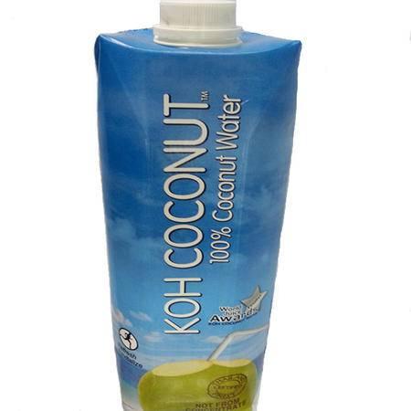 KOH COCONUT/酷椰屿椰汁椰水 100%纯椰子汁特惠1000ml/盒*12 一箱 泰国进口