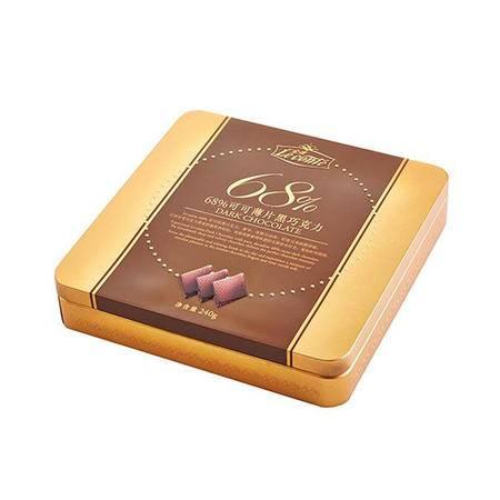【金帝】巧克力 金帝68%浓醇黑可可巧克力240g 情人节礼盒