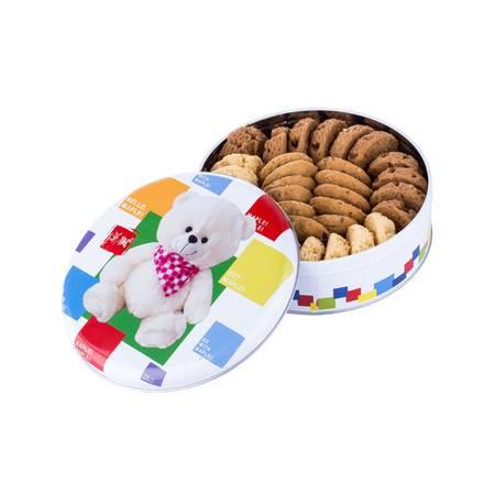 枫叶 小熊奶酥曲奇饼干(圆罐铁盒)360g*1特惠装  休闲零食 小熊曲奇 送礼佳品