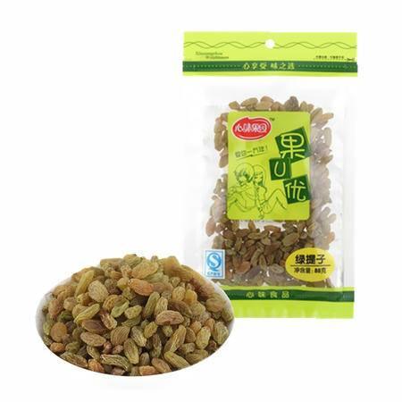 【心味果园】绿提子88gx1袋新疆葡萄干坚果干果脯系列休闲食品零食