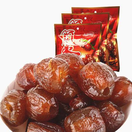 【邮政服务号活动 心味果园】阿胶蜜枣200gX3袋坚果干蜜饯果脯系列休闲食品零食品