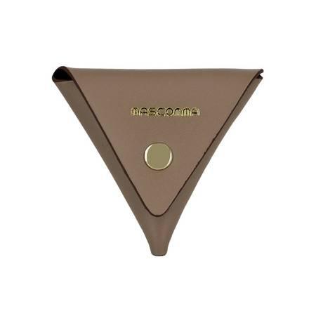 MASCOMMA牛皮三角彩色零钱包