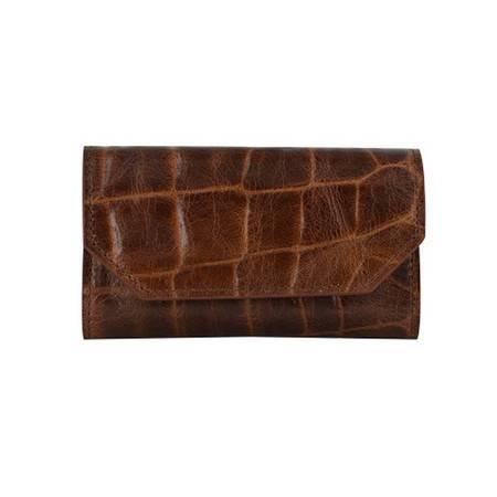 MASCOMMA头层牛皮鳄鱼纹钥匙包 5C213/BRN 棕色