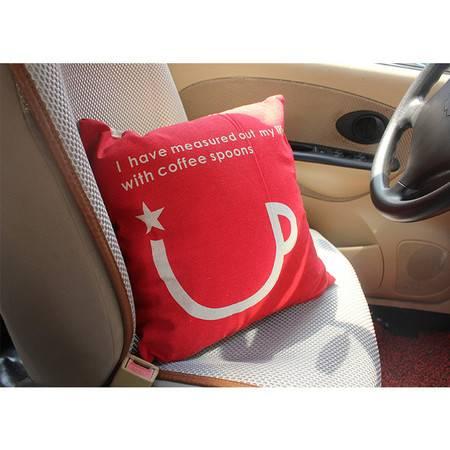 卡饰得(CARCHAD)复古亚麻靠垫含芯 沙发抱枕 卡通靠枕 45*45cm 套子+内芯