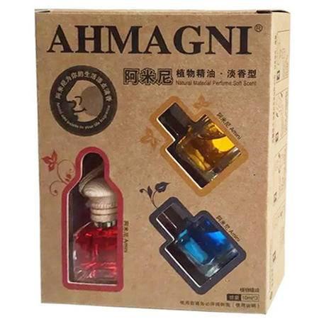 阿米尼 车用香水 3合1悬挂式香水 车载香水挂件 精油挂饰 三件套