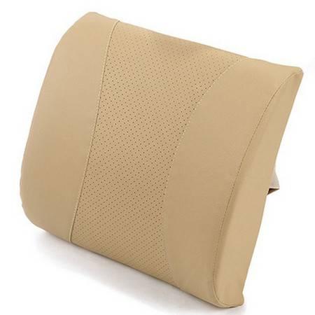 卡饰得(CARCHAD) 汽车太空记忆棉腰靠 3D垫腰 PU皮透气 办公居家 包邮
