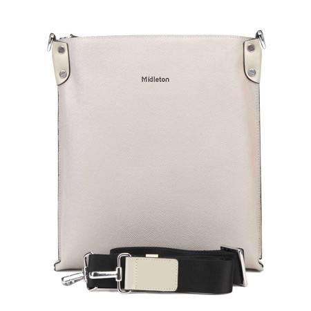 米德尔顿新款正品韩版男士牛皮单肩包商务休闲竖款包