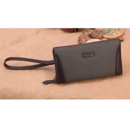 米德尔顿 新款正品男士格纹手包 商务大容量手拿包 男多卡位时尚包