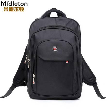 米德尔顿双肩旅行电脑背包男包休闲书包大中学生双肩包女韩版潮包